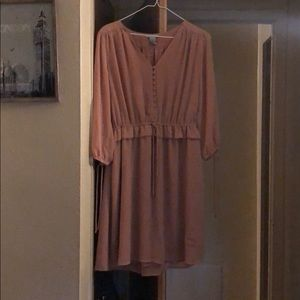 Polyester and cotton dress